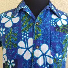 91ca63315441 Details about Penneys Hawaii Aloha Mod Floral Hibiscus Tapa Barkcloth  Vintage Shirt Size M