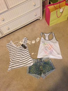 A87 haul! PLL Emily striped shirt-$18 No Sweat splatter tank- $14.70 ($29.50) Bethany Mota high rise shortie- $9.99 ($30) Love stacking rings- $0 ($13) Emoticon ring - $0 ($12.50) Infinity necklace - $16