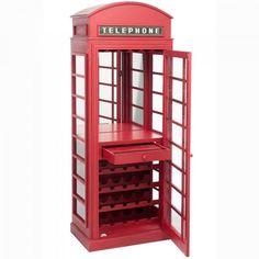 MUEBLE BAR CABINA TELEFONICA 72X45X183