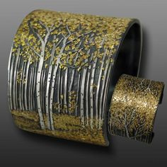 Artist: Wolfgang Vaatz _ Title: Aspen Grove Cuff _ Studio Location: Rio Rico, Arizona . About the artist : http://www.wolfgangvaatz.com/about.html