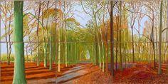 David Hockney - Woldgate Woods 23,23,29 Nov 2006