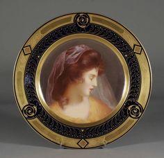 Ernst Wahliss, Royal Vienna Porcelain (Austria) — Portrait Plate (1100×1067)