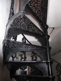 Antique Cast Iron Spiral Staircase