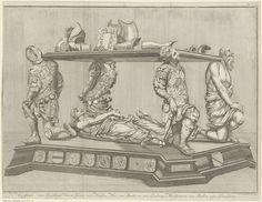 B.F. Immink | Grafmonument voor Engelbrecht II, graaf van Nassau-Dillenburg-Breda, 1504, B.F. Immink, Anonymous, 1744 | Grafmonument voor Engelbrecht II in de Prinsenkapel van de Onze-Lieve-Vrouwekerk te Breda, overleden op 31 mei 1504. In de ondermarge een regel Nederlandse tekst.