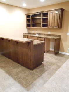 New Traditions Homes Basement #bar. Plastic Laminate #countertops And  #vinyl And #