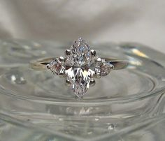 Warm White Precision Cut Marquise and Round by ShantasticJewelry