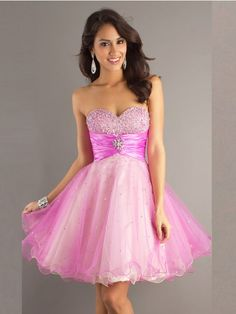 Homecoming Dress, Homecoming Dresses, 2013 Attractive A Line Princess Sweetheart Beads Pleated Tea Length Prom Dresses