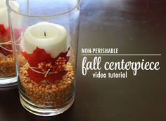 Easy fall centerpiece tutorial