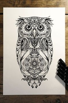 Spotted Detailed Owl Tattoo
