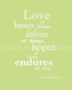 Bible verse I Cor 13:7
