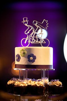 Wedding Idea cake for Britni and Chris bicycle made for two wedding
