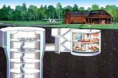 converted missile silo home bomb shelter