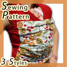The PATTERN!!!! Baby Wrap Sling Sewing Pattern by mammacandoit on Etsy, $5.00