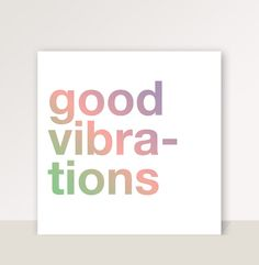 """Cuadro con frase """"Good vibrations"""" de la tienda La Kermesse - Usá el hashtag #MiTiendaNube cuando pinees tu productos desde tu tienda para que podamos destacarlo en nuestra cuenta de Pinterest"""