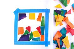 Stained Glass Pasta Craft for Kids - LOVE THIS! This has to be the coolest craft. It is not only fun to make, but stunningly  beautiful when completed. Great for preschool, kindergarten, 1st grade, 2nd grade, 3rd grade, and 4th grade students