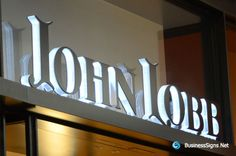 3D LED Side-lit Signs With Brushed Stainless Steel Front-panel For John Lobb
