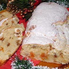 Jednoduchá vánoční štola recept - Vareni.cz Dairy, Bread, Cheese, Food, Brot, Essen, Baking, Meals, Breads