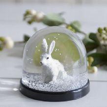 Snow rabbit snowglobe
