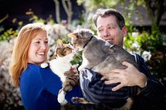 Jenni + Steve Engagement in Oakland, CA with their #cats