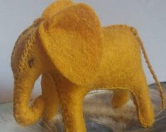 Natural toys wool felt animals role play Waldorf eco by Felthorses Toys For Girls, Gifts For Girls, Kids Toys, Baby Elephant, Stuffed Elephant, Natural Toys, Colorful Animals, Felt Toys, Felt Animals