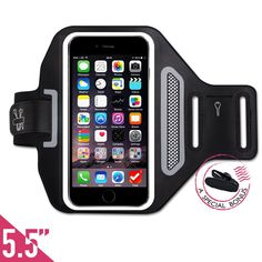 "FREE Headset Clip +ID/Card/Cash Holder,Tripky Sports Armband for iPhone 6 Plus, 6s Plus (5.5""), Galaxy S6/S5, Note 4 Touch Compatible , Water Resistant For hiking,Biking,Walking(Black). ★ 100% MONEY BACK GUARANTEE: If for whatever reason you don't absolutely love your Triple Armband, just return it and we will refund every penny or replace it, No Questions Asked! Also enjoy our very special bonus, get A Headphone Clip for more focused workout. ★ MULTIPLE FEATURES: Use the holes featured…"