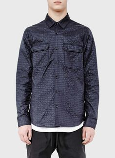 isaora micro quilted overshirt ss 2014 navy