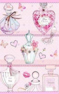 Нежно-розовая открытка о любви. #love #card #parfume