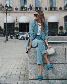 Fashion Mode, Fashion 2020, Look Fashion, Fashion Trends, Streetstyle Fashion Week, Fashion Fall, Blue Fashion, Teen Fashion, Fashion Fashion
