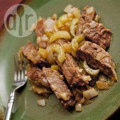 Foto da receita: Picadinho de carne com aipo