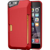 "iPhone 6 Plus/6s Plus Wallet Case - Vault Slim Wallet for iPhone 6+/6s+ (5.5"") by Silk - Ultra Slim Protective Credit Card Phone Cover (Red Rouge)"