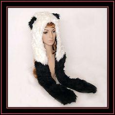 panda campana sombrero bufanda con orejas de las patas de los bolsillos-Sombreros Invierno-Identificación del producto:500979982-spanish.alibaba.com