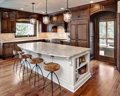Kitchen Light Wood Floor Dark Cabinets Design, Pictures, Remodel, Decor and Ideas - page 8