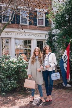 Gal Meets Glam 36 Hours In Washington D. - Red Valentino coat, Joie sweater, J. Preppy Outfits, Preppy Style, Spring Outfits, My Style, Preppy Fashion, J Crew Style, Classy Style, Chic Outfits, Sandro