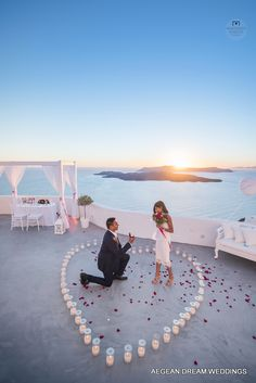 A Unique Proposal in Santorini, Greece. Romantic... amazing... incredible are just a few words to describe Ronak's marriage proposal to Pryia.