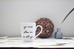 Mr. Darcy Proposal Mug  Jane Austen by Brookish on Etsy, $16.00