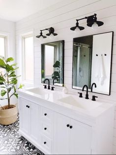 Offer a delightful and fine look to your bathroom with this Home Decorators Collection Naples Bath Vanity Cabinet Only in White. Bathroom Renos, Bathroom Renovations, Home Remodeling, Shiplap Master Bathroom, Remodel Bathroom, Master Bath Remodel, Inexpensive Bathroom Remodel, Bathroom Remodel Pictures, Restroom Remodel