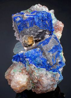 mineralia: Linarite with Galena and Fluorite from New Mexico by Exceptional Minerals