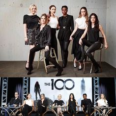 Fierce female Panel at the #TCA 's with these amazing women . Proud to be a part of this inspiring group of gals in television . #The100 @thecw @allsaintslive Season 3 premieres Jan 21 on the #cw