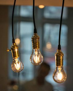 LED Lights That Mimic the Look of Vintage Edison Bulbs -- Yes! These are so much nicer than those hideous white spiral bulbs.