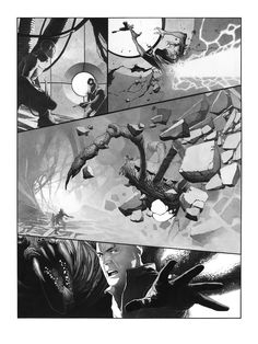 Metabaron by Travis Charest Comic Book Pages, Comic Books Art, Travis Charest, Gravure Illustration, Black And White Comics, Comic Layout, Fanart, Marvel, Comic Artist