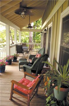 Covered porch  in summer - easy living!