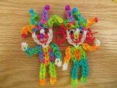 Rainbow loom JESTER/CLOWN Part 2 (body). Designed and loomed by Jaclyn Lacaros at Lovely Lovebird Designs. 03/11/14.