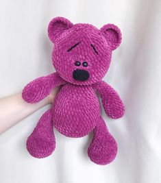 This Pin was discovered by Sha Crochet Bunny Pattern, Crochet Animal Patterns, Crochet Bear, Amigurumi Patterns, Amigurumi Doll, Crochet Animals, Crochet Toys, Knitted Stuffed Animals, Amigurumi Tutorial