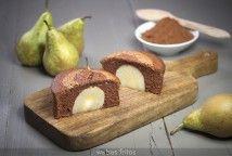 Bizcocho de chocolate y pera