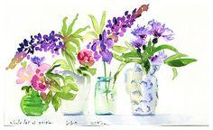 Watercolor by Sally Mara, Etsy