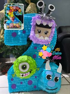Monster Inc Birthday, Monster Inc Party, 3rd Birthday, Happy Birthday, Monsters Inc Boo, Ideas Para Fiestas, Confetti Balloons, Baby Party, Ladybug