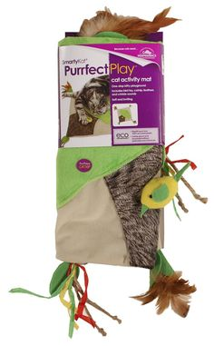 SmartyKat Purrfect Play Cat Toy Activity Mat with Catnip, Feathers and Crinkle Sounds >>> See this awesome image  : Cat toys