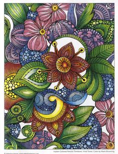 Creative Coloring Flowers Coloring Book. Discover a bountiful garden of 28 whimsical flower designs in this extraordinary coloring activity book. Zenspirations
