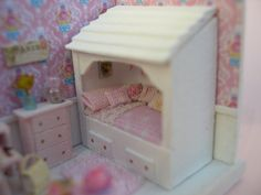 Scene scale 1/144 for Dollhouse decorated type shabby♡♡ measures 46 x 3 x 3 2cm