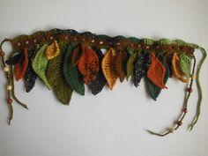 Earthy crochet hip wrap